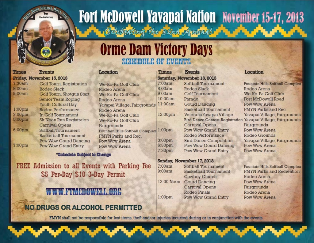 Orme Dam Victory Days Fort Mcdowell Yavapai Nation